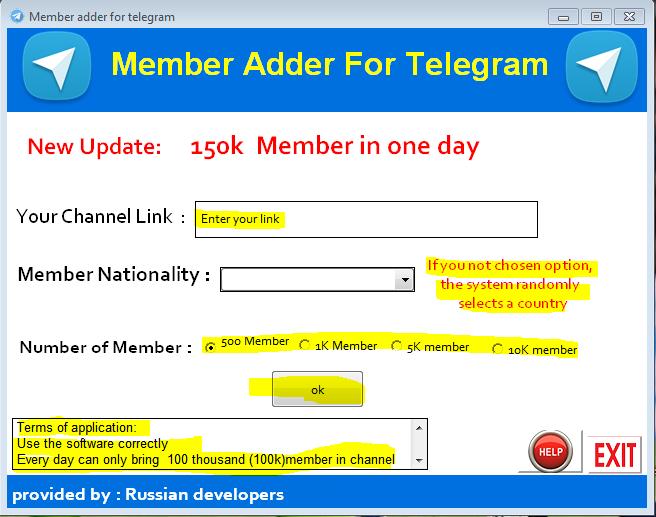 دانلود نرم افزار channel_tele برای افزایش بازدید کانال تلگرامی